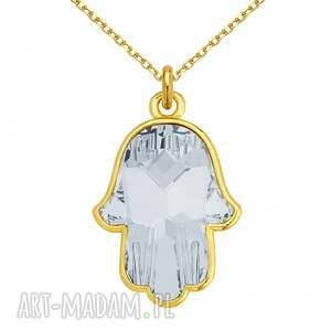 gustowne naszyjniki modny złoty naszyjnik z kryształową ręką