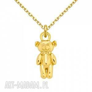 handmade naszyjniki modny złoty naszyjnik z misiem