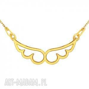 ręcznie robione naszyjniki modny złoty naszyjnik ze skrzydełkami