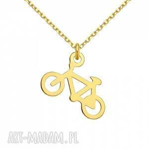 naszyjniki modny złoty naszyjnik z rowerkiem