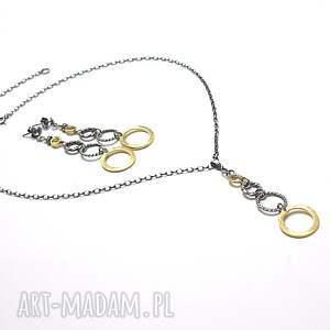 pozłacane naszyjniki naszyjnik wykonany w całości ze srebra