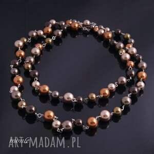 gustowne naszyjniki długi złoty sznur pereł-naszyjnik