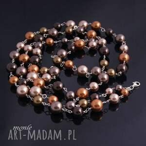 srebrne naszyjniki naszyjnik złoty sznur pereł-naszyjnik