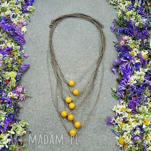naturalny naszyjniki żółty naszyjnik