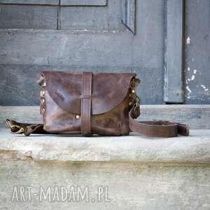 handmade nerki skórzana brązowa nerka lub torebka