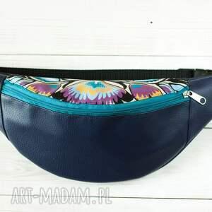 niebieskie nerki łowicki nerka - łowickie wycinanki (granat)
