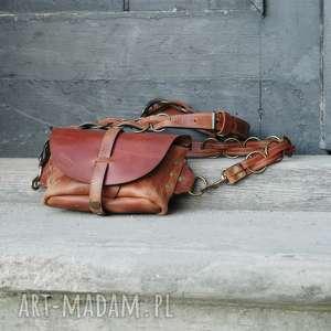 skórzana nerki ręcznie robiona torebka