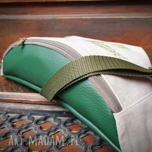 niebanalne nerki len - nerka uszyta z tkaniny lnianej (przód )