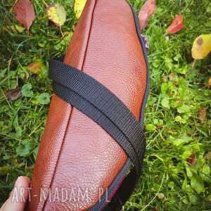 czarne nerki torebka nerka xxl folkowa