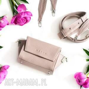 nerka skórzana nerki różowa torebka
