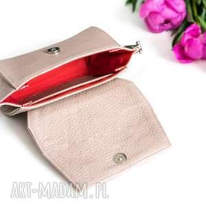 nerka skórzana różowa torebka