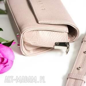 nerki nerka skórzana różowa torebka