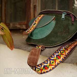 zielone nerki aztecka skórzana nerka odcienie zieleni