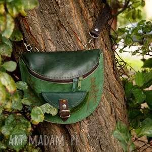 hand made nerki nerka skórzana odcienie zieleni las