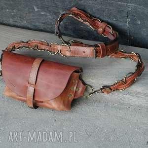 pomarańczowe nerki torba skórzana ręcznie robiona torebka