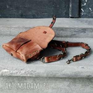 nerka nerki czerwone skórzana ręcznie robiona torebka