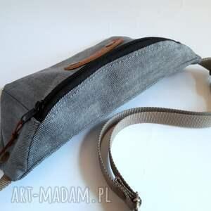 czarne nerki nerka torebka biodrowa jeansowa