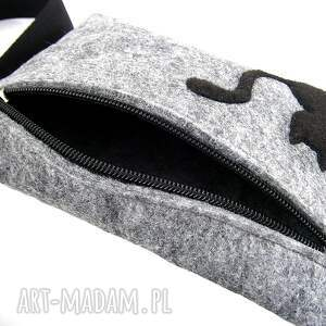 szare nerki waist pouch with cat