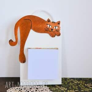 mdf notesy deseczka na notatki - rudy kociak