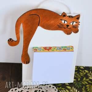 atrakcyjne notatnik deseczka na notatki - rudy kociak