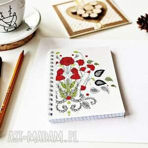 notes notesy czerwone maki - kwiaty polskich łąk