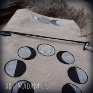 ręcznie zrobione notesy księżyc notes a5 ze skórzaną miękką