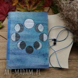 niesztampowe notesy księżyc notes a6 ze skórzaną miękką