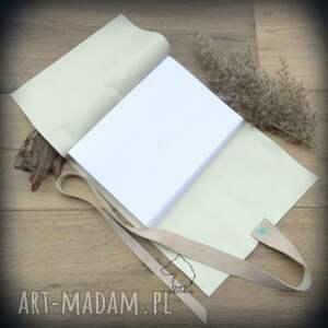 wikingowie notesy białe notes a5 ze skórzaną miękką