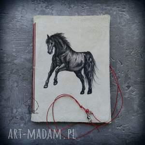 ręcznie wykonane notesy konie notes a5 ze skórzaną miękką