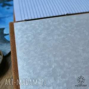 skórzany notesy wyjątkowy, bo całkowicie ręcznie wykonany