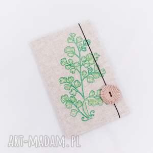 notesy haft notesik z lnianą oprawką haftowaną, wzór