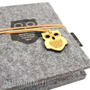 notesy notatnik notes filcowy owl