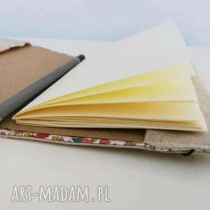 beżowe notesy notesik notes liść