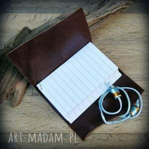 niebieskie notesy notes mini ze skórzaną miękką