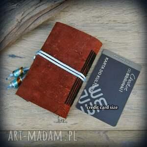 ręcznie zrobione notesy zeszyt notes mini ze skórzaną miękką