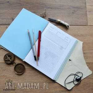 zeszyt notesy brązowe notes podróżnika w miękkiej