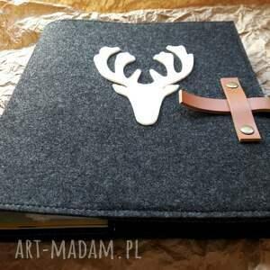 białe notesy notes okladka dedykowana jeleń