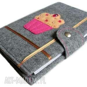 handmade notesy muffin nowa kolekcja akcesoriów z filcu rewelacyjna