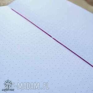 notesy: Planer w skórzanej oprawie Drzewo - ręcznie robiony i malowany bullet journal
