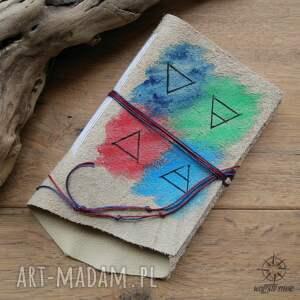 hand made notesy notatnik zeszyt w miękkiej skórzanej okładce - ręcznie