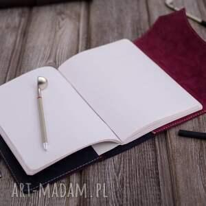 Darkness Gallery niebieskie notesy etui ręcznie robiony skórzany notes