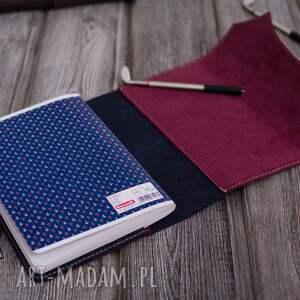 Ręcznie robiony skórzany notes, okładka na zeszyt format A5 skóra naturalna pamietnik