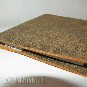 brązowe notesy okładka skórzana na zeszyt/notatnik