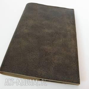 czarne notesy notatnik skórzana okładka na zeszyt/notatnik