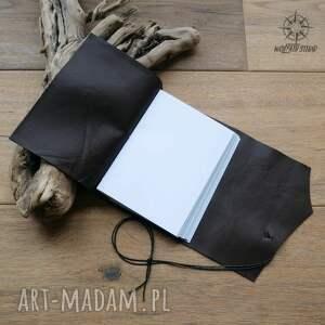 białe notesy notes skórzany zeszyt a6 z okładką