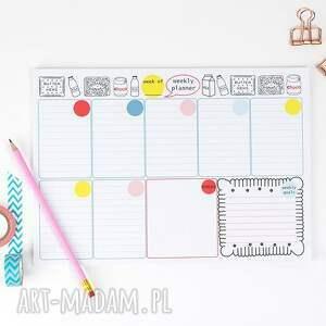 niesztampowe notesy planer zestaw planerów, dzienny