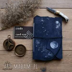 hand-made notesy zeszyt nocne niebo a6 w miękkiej