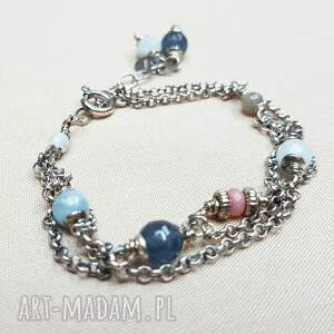 Bransoletka ze srebra i błękitnych kamieni srebro