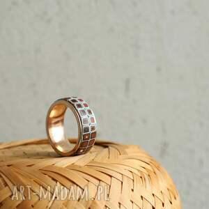 niebieskie obrączki pierścionki delikatna obrączka ze stali