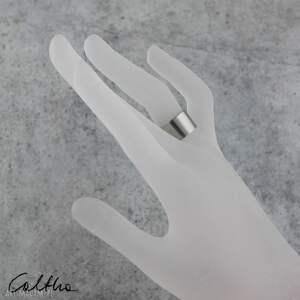 Caltha szare obrączki pierścinek gadki - srebrny pierścionek 190608